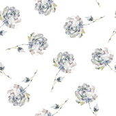 Vintage floral background with roses — Stock Photo