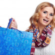 Winter and christmas shopping. Woman holding shopping bags — Stock Photo #36341645