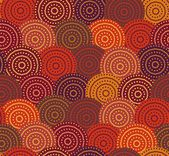 Ethnic circles seamless pattern — Stock Vector