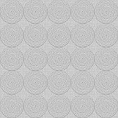 Greyscale vibrant circles seamless ornament — Stock Vector