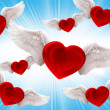 Fly to love — Stock Photo
