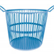 plastic basket isolated on white background — Stock Photo