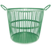 Plastic basket isolated on white background — Photo