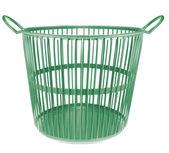 Plastic basket isolated on white background — Stock Photo