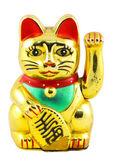 Gold Maneki Neko Japan Lucky Cat — Stock Photo