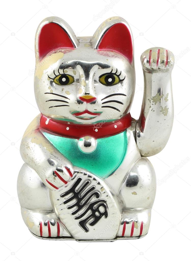 Resultado de imagem para Um pouco sobre os Gatos da Sorte japoneses PRATA