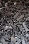 木炭做饭 — 图库照片