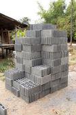 Concrete block walls,Concrete block walls, Wall construction Budget — Stock Photo