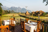 Resort Vang Vieng, Laos — Stock Photo