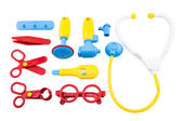 Kid toys medical equipment tool set — Stock Photo