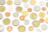 Thailand coins isolated on white — Stock Photo