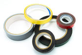 Masking tape, duct tape, double sided tape — Stock Photo