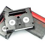 Group of mini dv tape isolated on white — Stock Photo #48051275