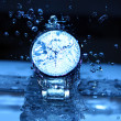 Watch Under Water Drops — Stock Photo