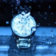 Watch Under Water Drops — Stock Photo #35836021