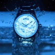 Watch Under Water Drops — Stock Photo #35856301