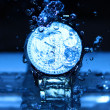 Watch Under Water Drops — Stock Photo #35860803