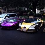 Lamborghini Aventador and Bugatti Veyron — Stock Photo
