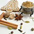 Aromatic spices for baking Christmas cookies — Stock Photo