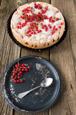 Berry pie and red currants   — Стоковое фото