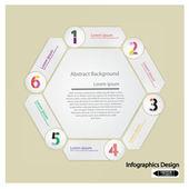 Clean hexagon presentation template — Stock Vector