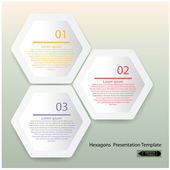 Шаблон презентации чистые шестигранные — Cтоковый вектор