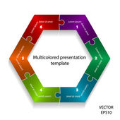 Abstract colorful presentation template. — ストックベクタ