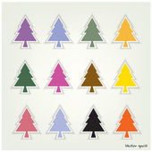 Set of pine tree signs. — ストックベクタ