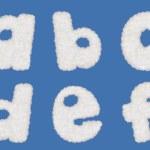 Cloud alphabets — Stock Photo #35529439