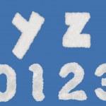 Cloud alphabets — Stock Photo #35529701