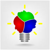 Creative light bulb sign. — Stock Vector
