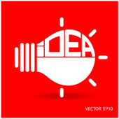 Creative light bulb, Business and ideas concepts. — Stock Vector
