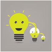 Idea sharing ,ideas concepts — Stock Vector
