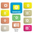 Set of digital camera icons, vector — Stock Vector
