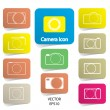 Set of digital camera icons, vector illustration — Stock Vector