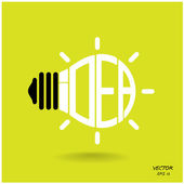 Creative light bulb, Business and ideas concepts,Vector. — Stock Vector