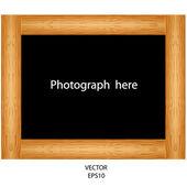 Wooden background ,wooden frame — Stock Vector