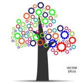 Meshing gear,industrial sign — Stock Vector