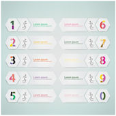 Number options template — Stock Vector