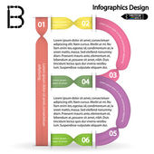 Colorful infographics options banner. — Stock Vector