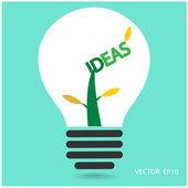Creative light bulb, — Stock Vector