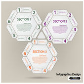 Hexagon presentation template — Stock Vector