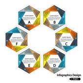 Hexagon presentation template — Stock Vector