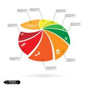 Modern circle infographics options banner. — Stock Vector
