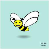 Símbolo de abelha engraçado — Vetor de Stock