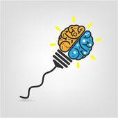 Creative brain Idea concept background — Stock vektor