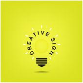 Creative light bulb sign,business idea — Stock Vector