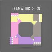 Handshake abstract sign vector design template. Business creativ — Stock Vector