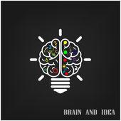 Creative brain Idea concept background design — Stock Vector