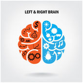 Creative left brain and right brain — Stock Vector